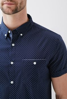 c734cd2d Dot Print Oxford Shirt   21 MEN - 2000118987 21 Men, Chef Jackets, Button
