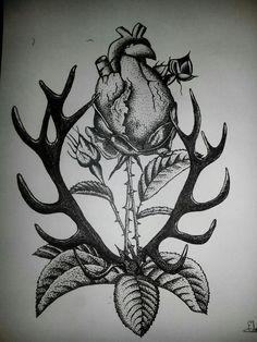 Dibujo en plumilla y puntillismo