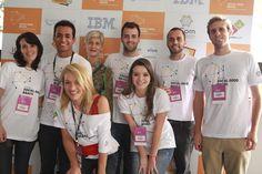 Alguns dos nossos voluntários no Centro Integrado de Cultura (CIC), em Florianópolis (SC), que foi palco do Seminário Social Good Brasil.