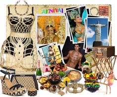"""""""Postcards from Brazil by Sheniq"""" by sheniq ❤ liked on Polyvore"""