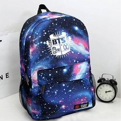 2017 Fashion Canvas Galaxy Printed BTS Backpacks School Bags For Teenager girls Men Laptop Travel Rucksack Mochila Escolar Bts Backpack, Galaxy Backpack, Canvas Backpack, Backpack Bags, Fashion Backpack, Shoulder Backpack, Mochila Kpop, Mochila Do Bts, Bts School