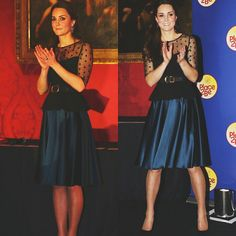 Pregnant Duchess of Cambridge welcomed guests to charity event at Kensington Palace Place 2 Be Wearing Hobbs 19 November 2014