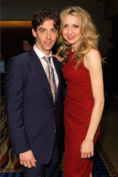 Christian Borle (Peter and the Starcatcher) and Nina Arianda (Venus in Fur) at the 2012 Tony Award Nominees Press Reception on May 2.