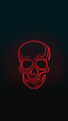 Red Skull Amoled iPhone Wallpaper Source by Depressed_gurl Skull Wallpaper Iphone, Neon Wallpaper, Screen Wallpaper, Wallpaper Backgrounds, Wallpaper Desktop, Dark Backgrounds, Disney Wallpaper, Mobile Wallpaper, Wallpaper Quotes