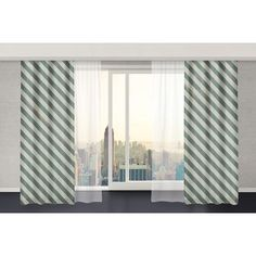 """Wildon Home  Mellina Curtain Panels Size: 112"""" W x 80"""" L, Color: Green"""