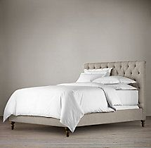 Chesterfield Fabric Panel Bed Without Footboard