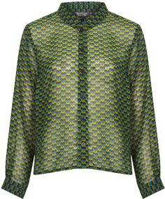 Topshop Heart Geo Print Shirt on shopstyle.com