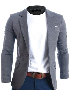 FLATSEVEN Mens Slim Fit Casual Premium Blazer Jacket Grey XL * Continue to the product at the image link. (This is an affiliate link) Mode Masculine, Fashion Mode, Urban Fashion, Fashion Brand, Fashion Fall, Fashion Photo, Fashion Editor, Fashion 2018, Smart Casual