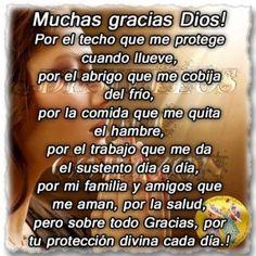 Muchas gracias Dios