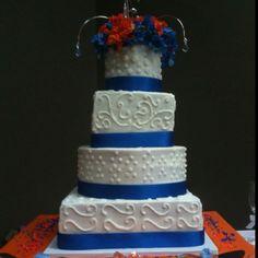 FL Gators Wedding Cake by Jenny