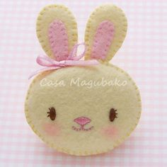 Bunny Brooch Digital Pattern Hand-Stitching by CasaMagubako