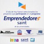 """Seleccionamos  los proyectos que participarán en el programa """"emprendedores saint"""""""