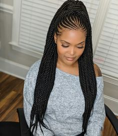 Cute Braids Styles Make Your Look Attractive - Cute Braids Styles Make Your Look Attractive Versatile And Modish Ladies Waist Length Tribal Braids Can Be Worn Multiple Ways Feed In Braids Ponytail Long Braids Braided Ponytail Braid Hair L Box Braids Hairstyles, Braids Hairstyles Pictures, Braided Ponytail Hairstyles, Braided Hairstyles For Black Women, Braids For Black Hair, African Hairstyles, Girl Hairstyles, Ponytail Ideas, Cornrolls Hairstyles Braids