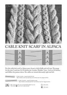 cable knit scarf patterns 32 Learn how to knit cables Knitting Pinterest image