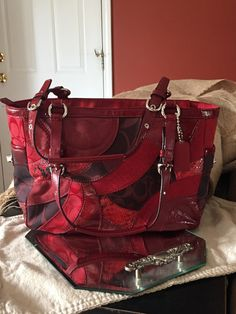 Coach Red Patch Purse by VintageFamilyGoods on Etsy https://www.etsy.com/listing/464446213/coach-red-patch-purse