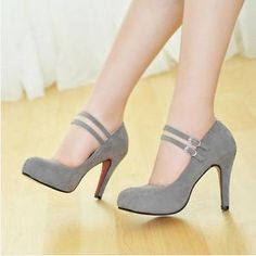 new fashion women strappy girl pump round toe faux suede high heel shoes X772
