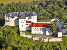 The castle was founded before 1250 and was originally used by king's family as a hunting residence. Later the castle changed the owners who adjusted Medieval Fortress, Royal Residence, Beautiful Castles, Central Europe, Bratislava, Great Places, Mansions, Landscape, House Styles