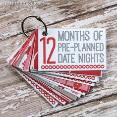 12 Months of Date Nights gift & free printable! - 25+ Sweet Gifts for Him for Valentine's Day - NoBiggie.net