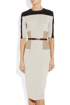 So Classy! Perfect office ensemble. I LoVe the color blocking! ~ Victoria Beckham dress, Chloe belt