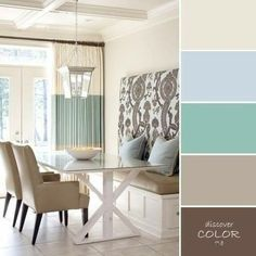 beige color in interior your home - Bathroom Design Ideas Dining Room Colour Schemes, Dining Room Colors, Interior Color Schemes, Bedroom Colors, Interior Design, Paint Colors For Home, House Colors, Murs Beiges, House Color Palettes