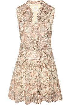 Anna Sui Deco embroidered tulle dress | THE OUTNET