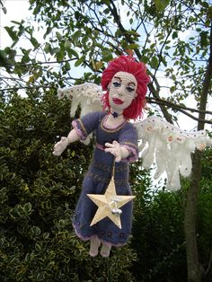 Free style angel, crochet.