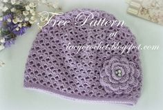 Free Crochet Patterns For Baby Hats Lacy Crochet Cashmere Crochet Ba Hat Size 12 Months Free Pattern Crochet Baby Hats Free Pattern, Crochet Baby Blanket Beginner, Crochet Baby Beanie, Crochet Cap, Free Crochet, Crochet Patterns, Ravelry Crochet, Beginner Crochet, Crocheted Hats