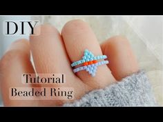 Beaded Rings, Beaded Bracelets, Brick Stitch Tutorial, How To Make Rings, Ring Tutorial, Beading Tutorials, Gifts For Friends, Special Gifts, Molde