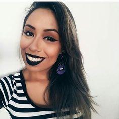 """66 curtidas, 2 comentários - Brazilian Blogger (@thabata_cristiny) no Instagram: """"🌸#makebatompreto #makeup #braziliangirl"""""""