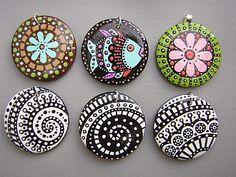 Ceramic Painted Pendants by TheRoyalBead, via Flickr