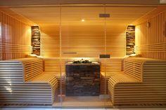 Sauna mit 3-teiliger Glasfront #Erdmann #Sauna #ErdmannSaunabau #ErdmannExklusiveSaunen