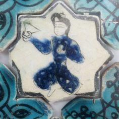 Karatay Medrese, Konya : Single Tile Motifs with Cross Tiles – Haç Karo ile Tek Karo Motifleri-Figural Designs – Figürsel Motifler Turkish Art, Pottery Art, Ceramic Pottery, White Tiles, Antique Tiles, Islamic Art, Mosaic Tiles, Walls, Empire