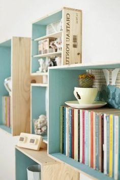 étagère en bois