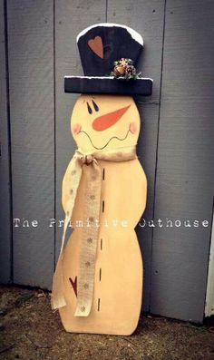 Wood snowman