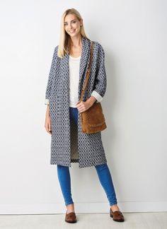 Patron gratuit couture femme manteau gilet