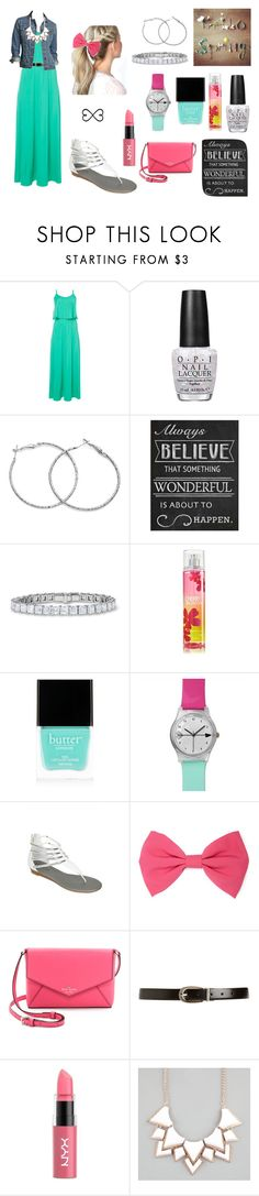 """""""church outfit"""" by knipphannah ❤ liked on Polyvore featuring OPI, Universal Lighting and Decor, Butter London, Forever 21, Kate Spade, Eddie Bauer, NYX, Full Tilt and Tattify"""