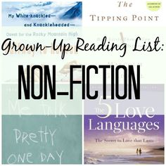 A list of Funny, Fascinating Non-Fiction Books (for adults...because kids who read have parents who read!)