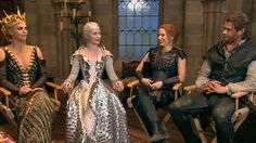 """The highly anticipated film """"The Huntsman: Winter's War"""" is a follow-up to """"Snow White and the Huntsman."""" NBC's Katy Tur went behind the scenes of the film and sat down with its cast, including Charlize Theron, Emily Blunt, Jessica Chastain and Chris Hemsworth."""