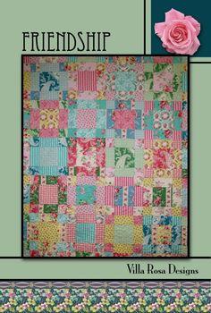 Friendship quilt pattern by Pat Fryer, Villa Rosa Designs