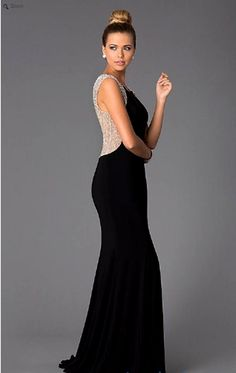 Long Black Gown for Prom Dresses - prom dresses, prom dresses 2015, prom dresses tumblr, prom dresses with sleeves