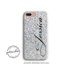 Glitter Personalize Phone Case - iPhone 7 Case - iPhone 7 Plus Case - iPhone 6 Case - iPhone 8 Case - iPhone X Case - iPhone 8 Plus Case by PetrichorCases on Etsy 6s Plus Case, Iphone 6 Plus Case, Iphone 8 Cases, Personalized Phone Cases, Design Case, Unique Jewelry, Handmade Gifts, Etsy, Kid Craft Gifts