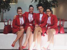 Airline Attendant, Flight Attendant, Flight Girls, Secretary Outfits, Female Pilot, Virgin Atlantic, Elegant Bridesmaid Dresses, Air France, Cabin Crew