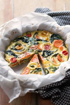 Ideas Brunch Quiche Vegetarian For 2019 No Salt Recipes, Raw Food Recipes, Italian Recipes, Healthy Recipes, Amouse Bouche, Cena Light, Brunch Appetizers, Baked Fish, Oven Baked