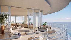 Renzo Piano-Designed Miami Beach Penthouse Could Set Florida New York Penthouse, Luxury Penthouse, Penthouse Apartment, Luxury Apartments, Luxury Homes, Renzo Piano, Interior Exterior, Interior Architecture, Architecture Diagrams