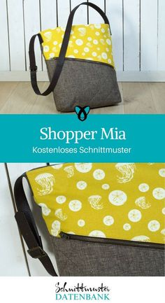 Shopper / Tasche nähen kostenloses Schnittmuster von pattydoo