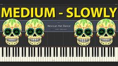 Mexican Hat Dance Longer Version MEDIUM Piano tutorial for everybody SLOWLY speed for two hands Mexican Hat, Piano Tutorial, Comic Books, Tutorials, Hands, Medium, Cartoons, Comics, Comic Book