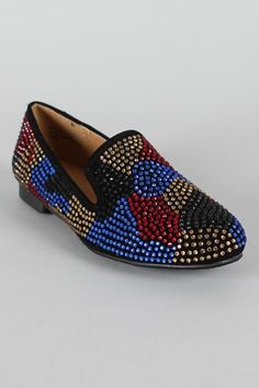 info for 5616e 3f855 Bamboo Mansion-25 Jeweled Round Toe Loafer Flat
