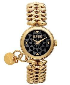 Versus by Versace Watch, Women's Optical Gold Ion-Plated Stainless Steel Bracelet 28mm 3C6870 0000