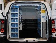 Il vano di carico del Berlingo con Kit Van Plus e cassetti in plastica