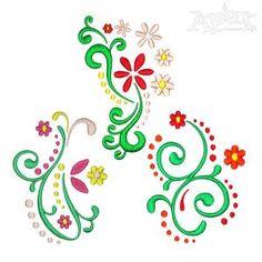 Flourish Flowers Embroidery Designs